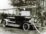 Automobilspritze in Betrieb, 1929