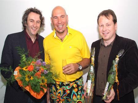 Bgm Michael Tinkhauser, Manfred Capelli und Bgm Harald Witwer