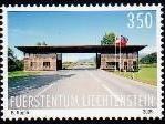 Bild: Das Gemeinschaftszollamt Nofels-Ruggell wurde auf einer Briefmarke verewigt.