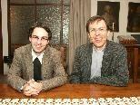 Bild: (v.l.) Lukas Bonner und Rainer Büchel werden am Freitag zu Priestern geweiht