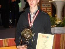 Christian Metzler bei der Preisverleihung in Pamhagen.