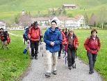 Das Vorarlberger Pilgerteam auf dem Weg nach Einsiedel.