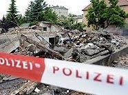 Das durch eine Gasexplosion zerstörte Wohnhaus in St. Pölten