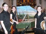 """Das hochbegabte Geschwister-Trio """"Vielsaitig"""" im Dom."""