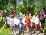 Die Schüler hatten sichtlich Spaß bei der 2. VS-Olympiade in Schoppernau.