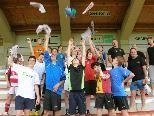Die U 15-Spieler des VfB nach getaner Arbeit.