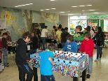 Großen Ansturm gab es bei der Tschutterkasten WM 2010 im Foyer der Mttelschule West