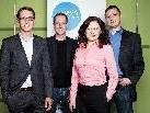 Gründen die Vorarlberg-Repräsentanz des PR Verbands Austria (von links): Dieter Bitschnau (wiko), Martin Dechant (ikp), Heidi Kalb-Vogel (iPUBLIC RELATIONS), und Wolfgang Pendl (Pzwei. Pressearbeit).