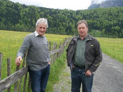"Josef Moosbrugger und Jakob Eberle am ""Steackohag"""