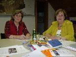 Obfrau Evelyn Pfanner und ihre Stellvertreterin Margit Studer.