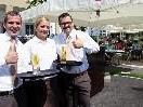 "Oliver Endl (Restaurant-Leiter ""Kaiserin Zita""), Jana Somfleth, Philipp F. Schramm (F&B Manager)"