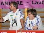 Rainer Spiegel (l.) wird neuer Cotrainer der Unter-18-Jährigen.