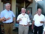 Siegi Hämmerle freut sich über die Eröffnung des Seniorenclubs 50 plus