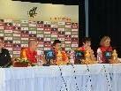 Spanien Trio stellte sich bei der Pressekonferenz den Fragen.