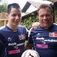 Vater Fredi Hillberger wird mit Sohn Rene am Samstag in einem Team spielen.
