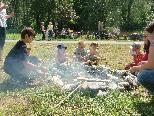 Viel Spaß beim Grillen hatten die Spielgruppen -Tanten vom Kinderwerkstättli