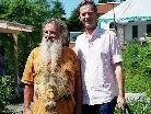 Wolf-Dieter Storl (li) zu Gast bei Michael Hinterauer.