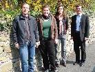 v.l.n.r: StudentInnen Stefan Locher und Stefanie Gehring, Assistentin DI Barbara Gungl, Bürgermeister Ing. Martin Summer