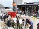30 Feuerwehrmänner aus Fußach, Gaißau, Hard und Höchst füllten 2.000 Sandsäcke ab.