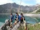 Alphornbläser verzaubern mit ihren Klängen die Bergwelt.