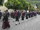 Beim Marschmusikwettbewerb im Silbertal errang die Harmoniemusik Schruns einen ausgezeichneten Erfolg. Dieses Bild entstand an Fronleichnam.