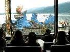 Besonders die Seebühne, wo gerade Proben für Aida statt fanden, faszinierten die Kinder besonders