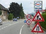 Bild: Die Königshofstraße (L 190) wird ab 2. August nachts von der Esso Tankstelle bis zum Merkur-Kreisverkehr gesperrt.