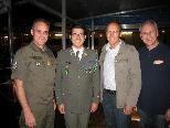 Brigadier Ernst Konzett, Kapellmeister Wolfram Öller, Bürgermeister Xaver Sinz, VBV-Obmann Wolfram Baldauf.