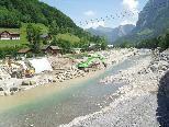 Die Arbeiten am Hochwasserschutz stehen in Mellau vor dem Abschluss.
