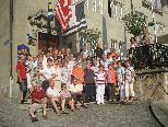 Die Lustenauer Senioren vor dem Hotel DE LA ROSE