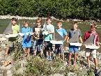 Die Schüler der 1c Klasse der HS Egg testeten ihre selbstgebauten Boote.
