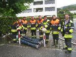 Die jungen Lochauer Feuerwehrburschen leisteten bravouröse Arbeit.