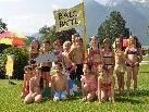 """Die zweiten Klassen der Volksschule Nüziders hatten viel Spaß bei der Veranstaltung """"Baderatte""""."""