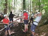 Durchhaltevermögen ist beim Klettern gefragt. Für viele Schüler es an persönliche Grenzen und sie überwanden Höhenängste, was für das Selbstbewusstsein sehr gut ist