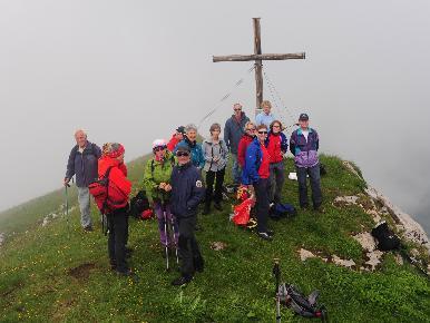 Eine schöne Wanderung erlebte der Alpenverein Bludenz in Oberlech.