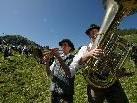 Einfühlsame Weisen auf Blechinstrumenten gibt es auf der Alpe Wildgunten zu hören