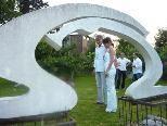 Einzigartige Skulpturen im Garten der Familie Ellensohn