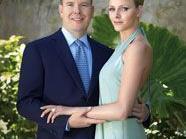Fürst Albert II und seine Verlobte Charlene Wittstock