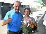 Roland Hilbrand mit Gattin Anita, die 42 Jahre eine große Stütze an seiner Seite war