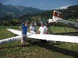 Segelflugzeug landete in Ludesch Quadern
