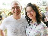 TSH-Chef Klaus Gasser mit Tochter Jessica.