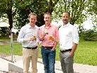 Vorsitzender der JWV Martin Dechant, Bundesvorstand der Jungen Wirtschaft Herbert Rohrmair-Lewis und Geschäftsführer der JWV Marco Tittler
