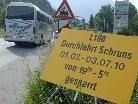 Wegen Belagsarbeiten auf der Montafonerstraße stehen nächtliche Sperren bevor.