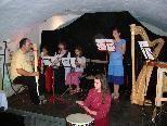 Zu Gast in Lochau - die Riderwanczen von der Musikschule Feldkirch.