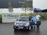 Übergabe des FC Mini an die Firma Häusle durch FCL 07 Manager Hartter