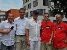 (v.l.) Roberto Kalin, Markus Linhart, Gerhard Schwärzler, Andreas Delkof und Edgar Bayer.