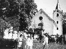 1950 gab es in Fellengatter ein Volksfest, als drei neuen Glocken eingeweiht werden konnten