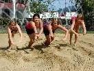 Auch Beachvolleyball wird trainiert
