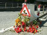 Bild: Die Stätte der Trauer an der Hämmerlestraße.