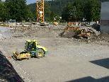 Bild: Die Vorbereitungen für die Betonierung der ersten Bodenplatte für die Doppelturnhalle ist praktisch abgeschlossen.